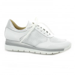 Pao Baskets cuir blanc