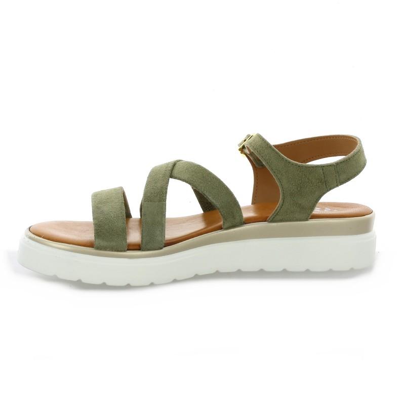 Pao Nu Pieds Cuir Velours Kaki - 41 Dorking Boots CANDY Dorking soldes Geox Chaussures escarpins D ANNYA Geox soldes WmeleJd55