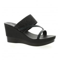 Reqins Nu pieds cuir noir