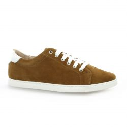 So send Derby cuir velours camel