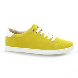 So send Derby cuir velours jaune