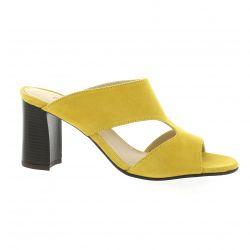 Vidi studio Mules cuir velours jaune