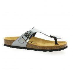 K. daques Nu pieds cuir laminé acier