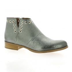 Pao Boots cuir laminé argent