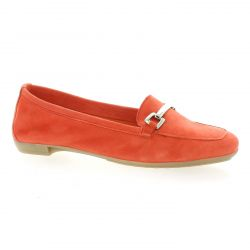 So send Ballerines cuir velours corail