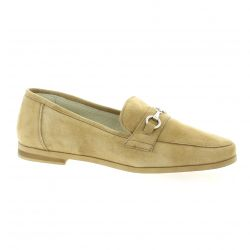 Latina Mocassins cuir velours taupe