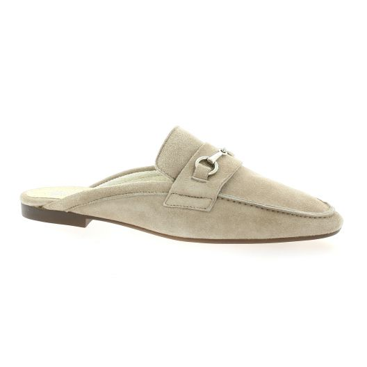 Latina Mules cuir velours taupe
