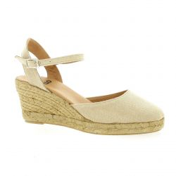 Pao Espadrille toile taupe