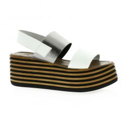 Pao Nu pieds cuir blanc
