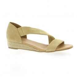 We do Nu pieds cuir velours beige