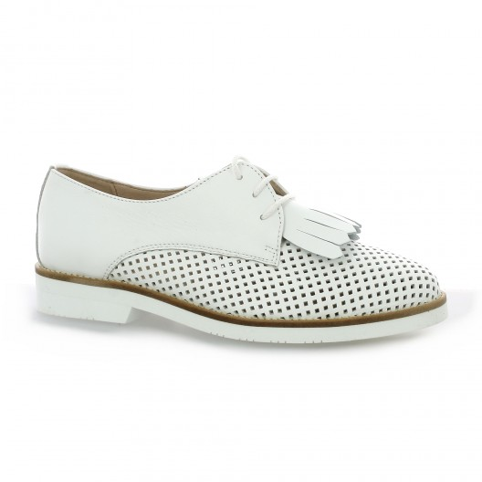 d033b823b350f Chaussures So Send derbies cuir blanc 8134