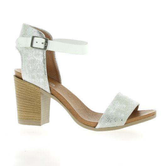 So Send Nu pieds cuir Blanc - Chaussures Sandale Femme
