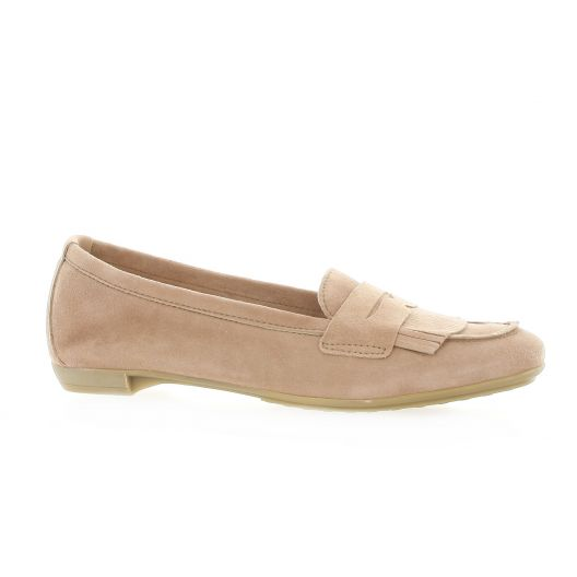 So send Mocassins cuir velours rose