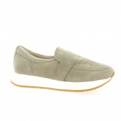 So send Baskets cuir velours taupe