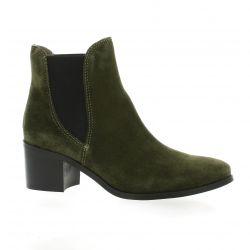 Mkd Boots cuir velours kaki
