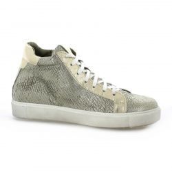 Mb78 Baskets toile serpent or