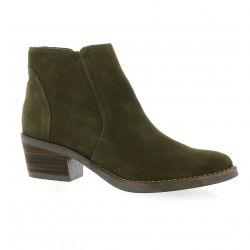 Vidi studio Boots cuir velours kaki