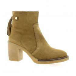 Alpe Boots cuir velours camel