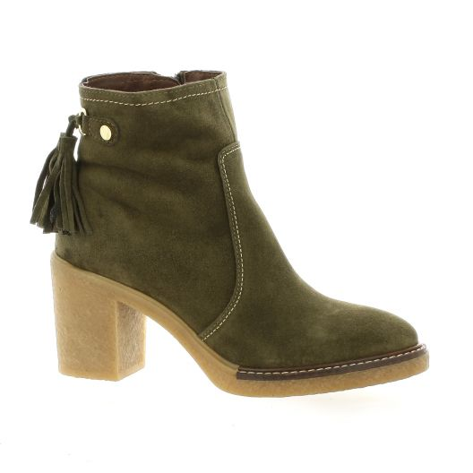 Chaussures Velours Alpe 3681 Boots Kaki Cuir 4q11Ypdx