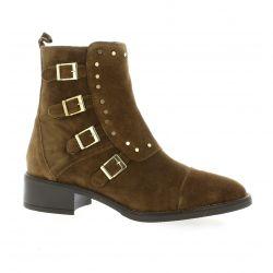 Alpe Boots cuir velours cognac