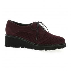 Mitica Derby cuir velours bordeaux
