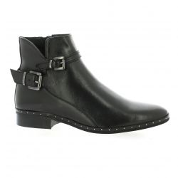 Mitica Boots cuir noir