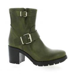Pao Boots cuir kaki