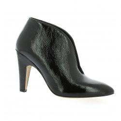 Fremilu Low boots cuir vernis noir