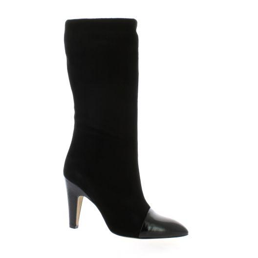 Fremilu Bottes cuir velours noir