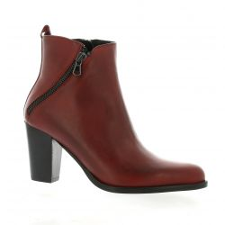 Denoué Boots cuir rouge