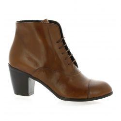 Denoué Boots cuir cognac