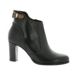 Denoué Boots cuir noir
