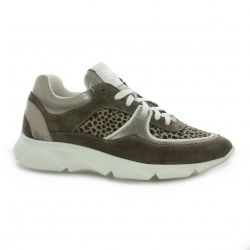 Mb78 Baskets cuir leopard