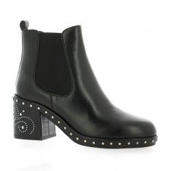 Adele dezotti Boots cuir noir