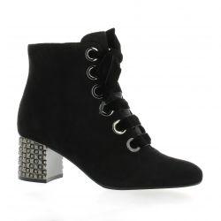 Adele dezotti Boots cuir velours noir