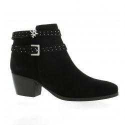 Mkd Boots cuir velours noir