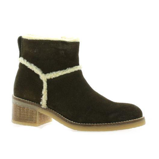 Minka Design Boots cuir velours marron