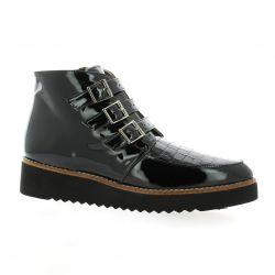 Brenda zaro Boots cuir vernis noir