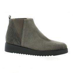 Brenda zaro Boots cuir velours gris