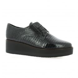 So send Derby cuir croco gris