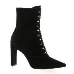 Bruno premi Boots cuir velours noir