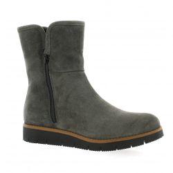 Exit Boots cuir velours gris