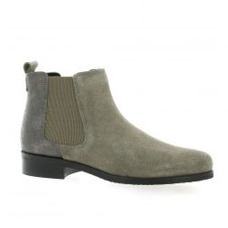 We do Boots cuir velours taupe