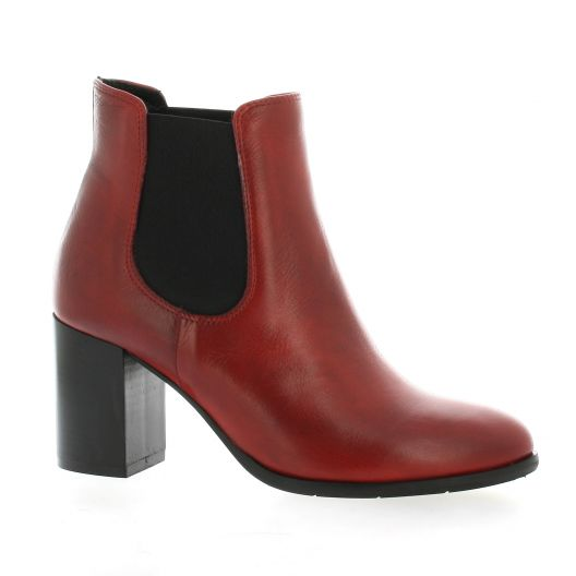 Pao Boots cuir rouge