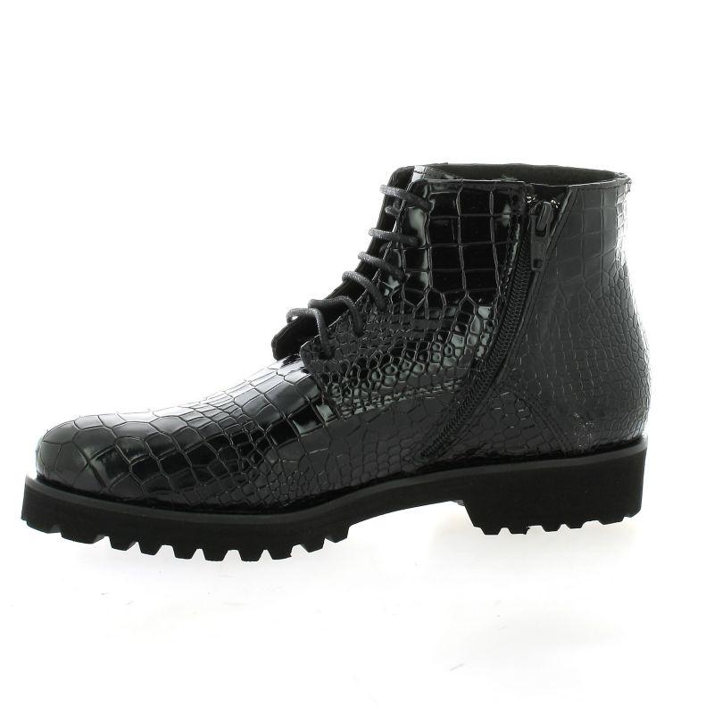 Cuir Boots Aa450 Croco Vernis Chaussures fpwcpardWq