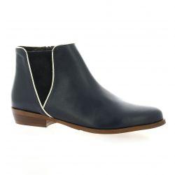 Impact Boots cuir marine