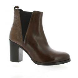 Pao Boots cuir/croco cognac