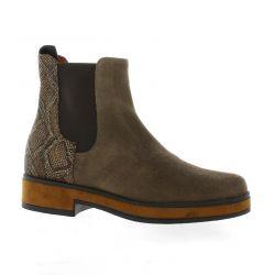Elizabeth stuart Boots cuir velours marron