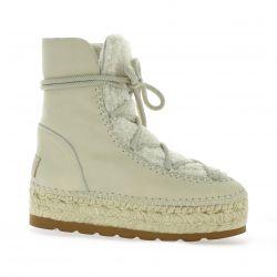 Vidoretta Boots cuir beige