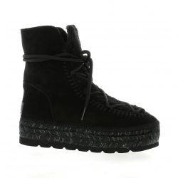 Vidoretta Boots cuir velours noir
